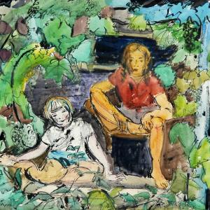 Children among the Vine Leaves